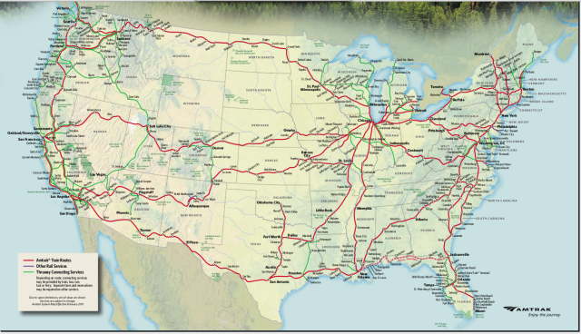 Amtrak routes